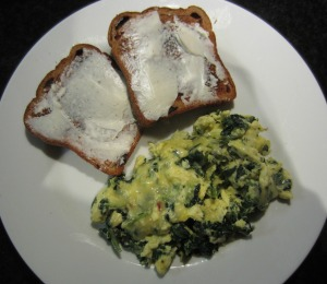 Spinach Scrambled Eggs