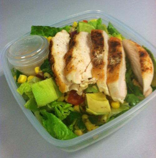 grilled chicken salad avocado and corn salsa