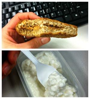 pbj & cottage cheese snack