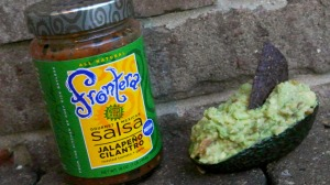 salsa and avocado guacamole 2