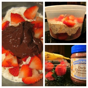 Strawberry Banana Overnight Oats with Dark Chocolate Dreams