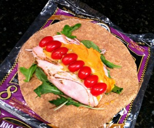 turkey and hummus wrap