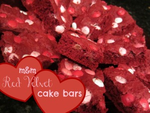 mm red velvet cake bars
