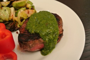 cilantro salsa steak