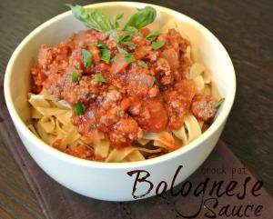 crock pot bolognese sauce
