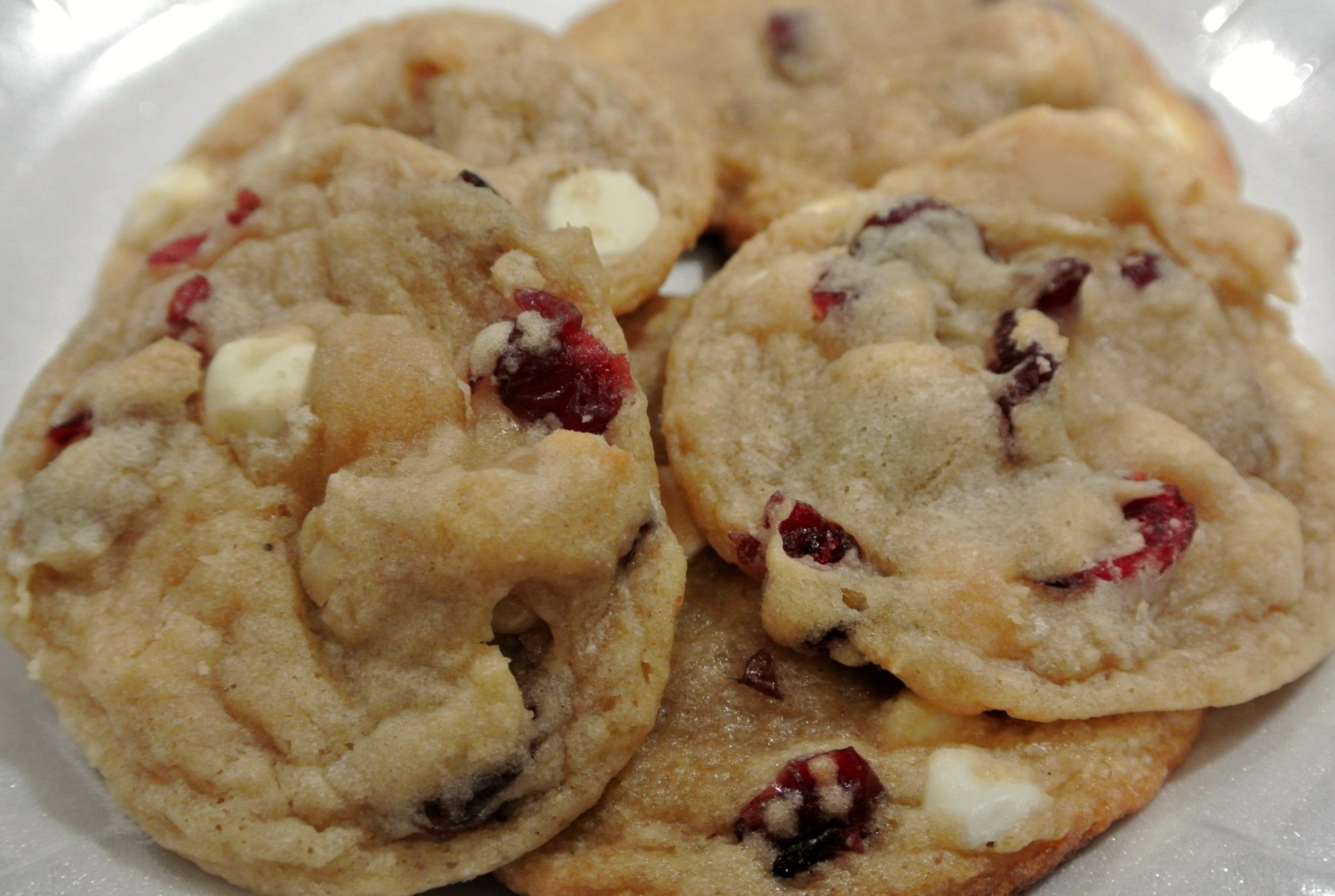 cranberry white chocolate macadamia cookies