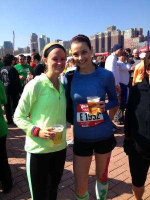 julie and i post shamrock shuffle