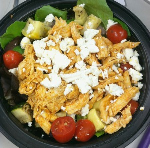 leftover buffalo chicken - salad