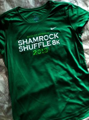 shamrock shuffle 2013 shirt