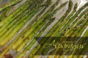 simply roasted asparagus