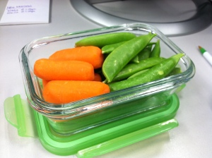 snap peas and carrots