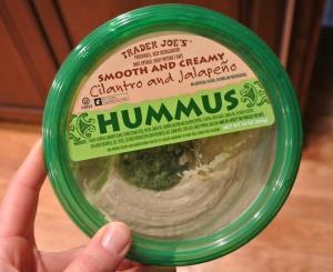 trader joes cilantro and jalapeno hummus
