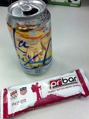 la croix and pb berry granola bar