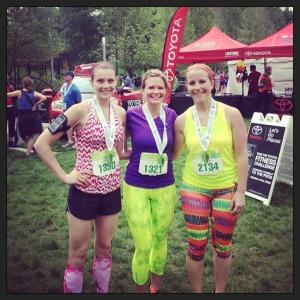 me cassie amanda 2013 half marathon 2
