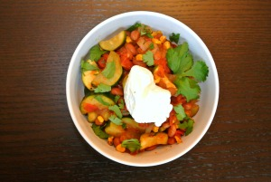 southwestern zucchini and bean saute 5