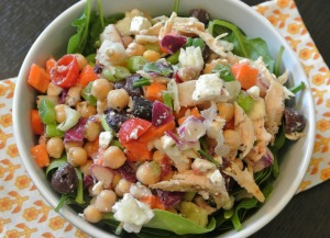 TJ's mix mediterranean chicken salad5