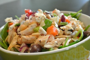 TJ's mix mediterranean chicken salad6