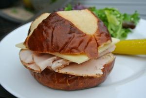 turkey cheese pretzel sandwich 4