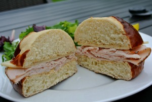 turkey cheese pretzel sandwich 5