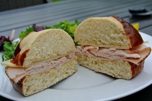 turkey cheese pretzel sandwich 5