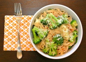 veggie garlic pasta bowl 2