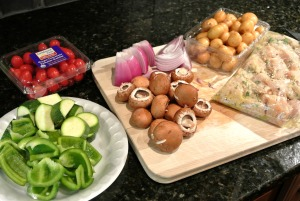 chicken and vegetable kebab ingredients