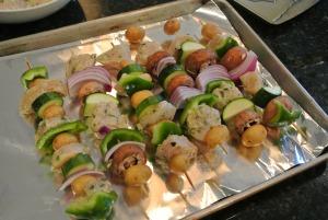 chicken kebabs raw