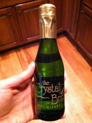 crystal bride champagne