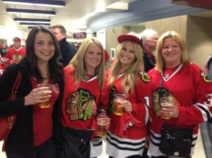 hawks game girls