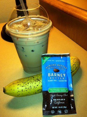 iced coffee banana barney butter